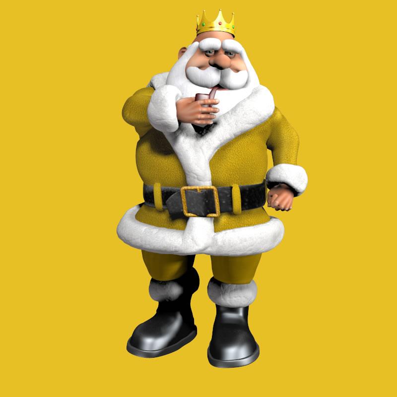 King of the North Pole Santa