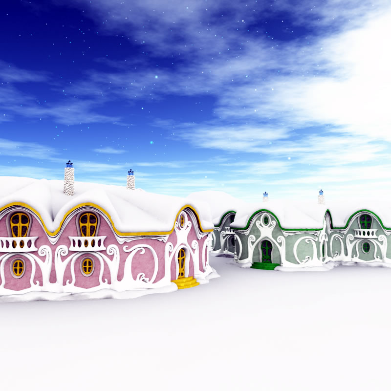 Christmas Elf Dormitories Alt Texture Sets