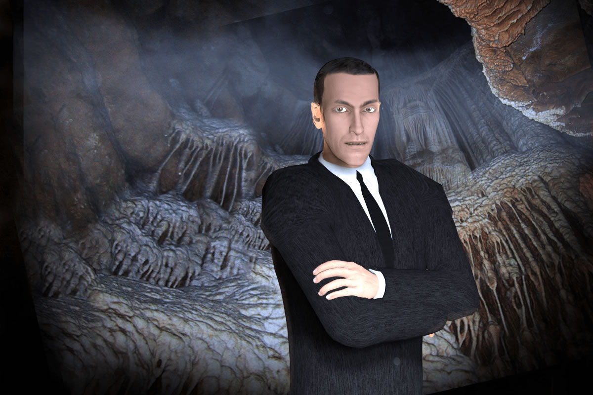 HP Lovecraft 3D in a Cave