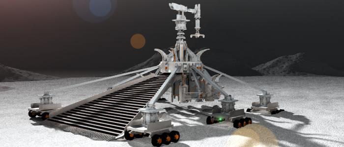 Regolith Mining Robot