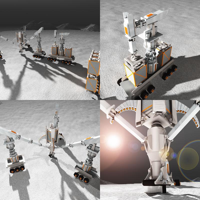 Lunar Builder Bot (4 Panel)