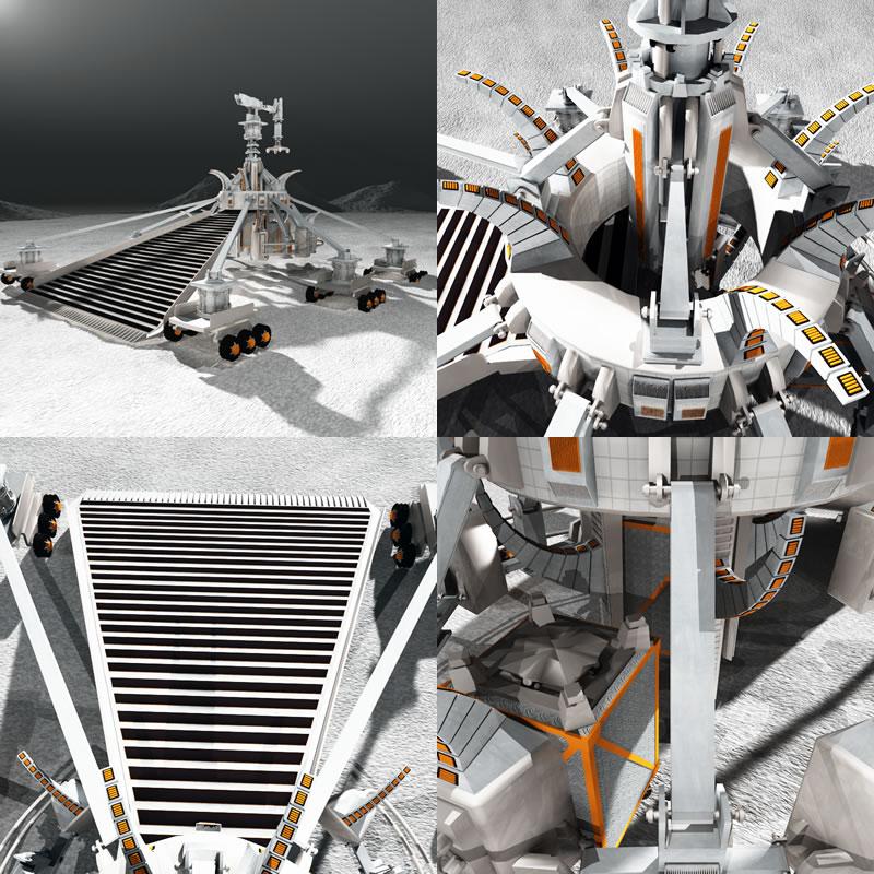 Regolith Mining Robot (4 Panel)