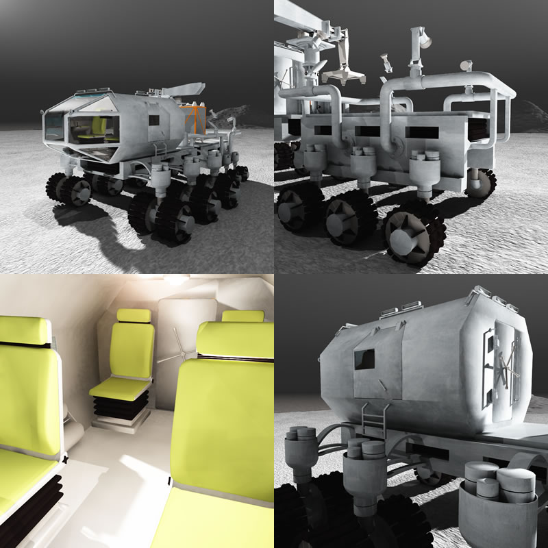 Lunar Rover (4 Panel)