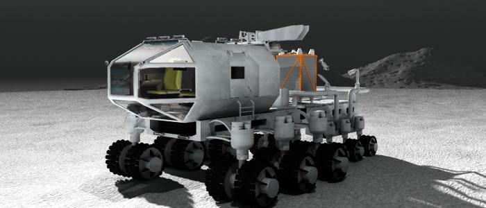 3D Lunar Rover & Module Trailer