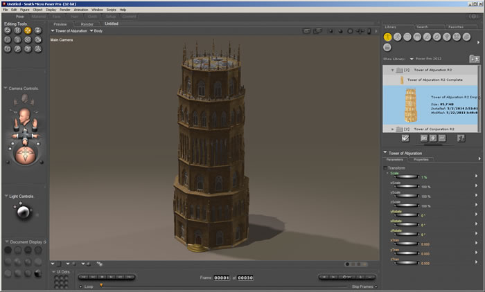 Tower of Abjuration R2 1.0a in Poser Pro 2012