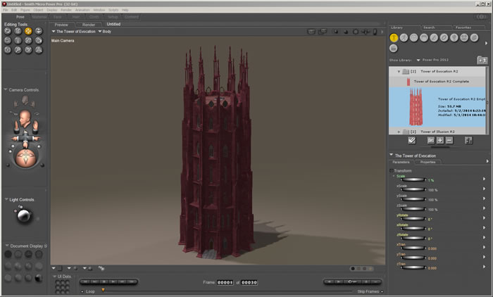 Tower of Evocation R2 1.0a in Poser Pro 2012