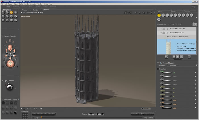 Tower of Illusion R2 1.0a in Poser Pro 2012