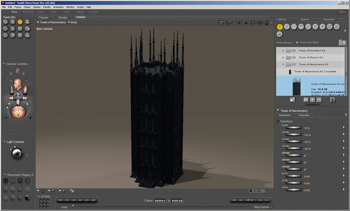 Tower of Necromancy R2 1.0a in Poser Pro 2012
