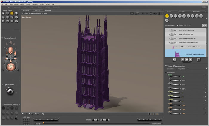 Tower of Transmutation R2 1.0a in Poser Pro 2012