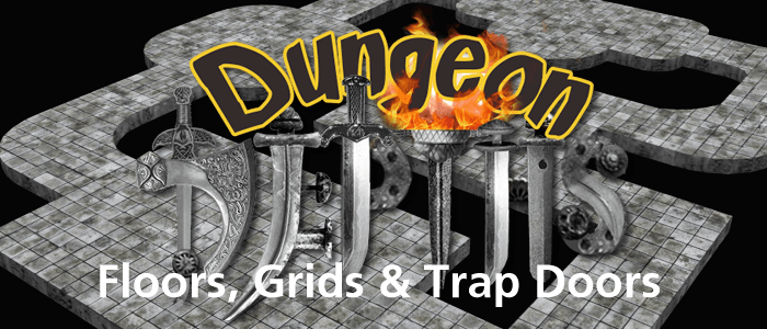 Dungeon 3D Floors, Grids & Trap Doors