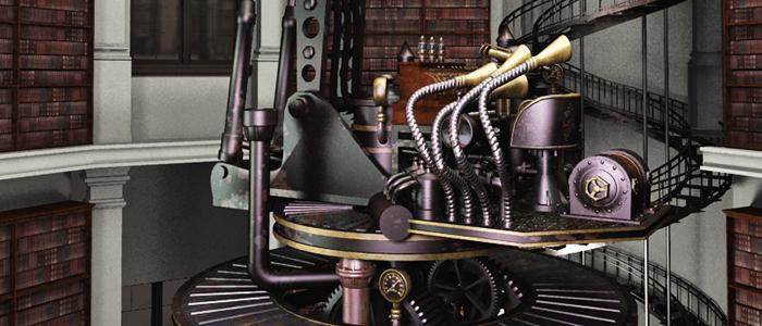 Steampunk Bookstore