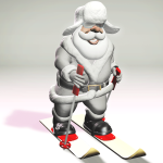 Ice Mountain Santa