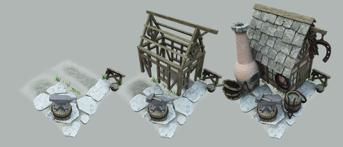 Builder's Medieval Blacksmith Building