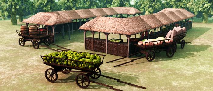 Medieval Ukraine Market 3D