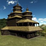 3D Medieval Ukraine Church