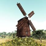 3D Medieval Ukraine Windmill