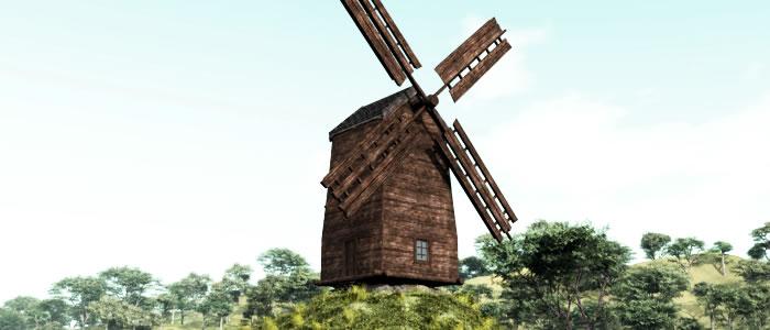 Medieval Ukraine 3D Windmill