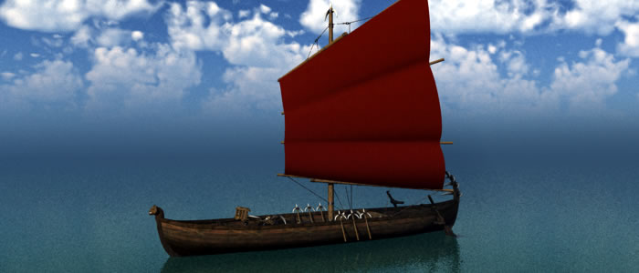 Orc Small Sail Ship 3D