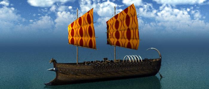 Fantasy 3D Orc Nobleman's Ship