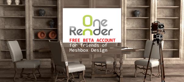 OneRender 3D Rendering in the Cloud