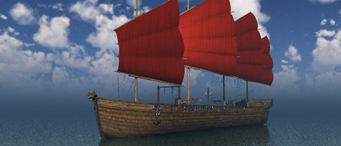 Orc Slaver's Ship 3D Model