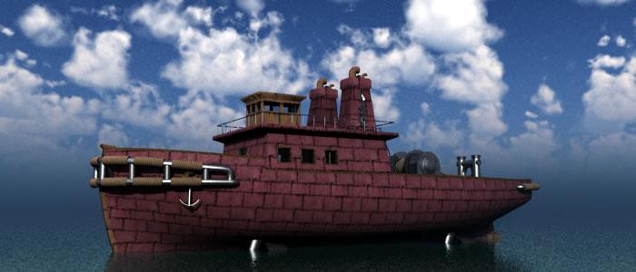 3D Dwarven Tugboat R2