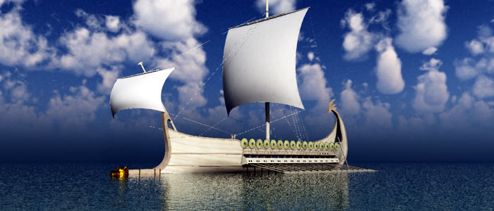Elven War Ship from Meshbox Design