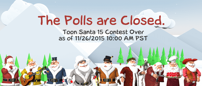 Toon Santa 15 Contest Polls are Closed.