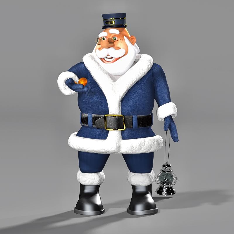 Train Conductor Santa