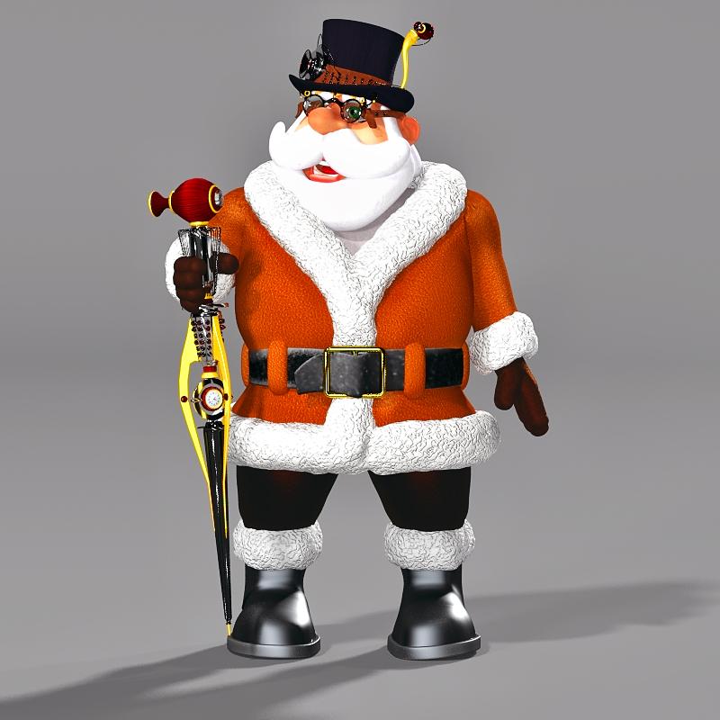 Steampunk Santa Rendered in Poser Pro 2016