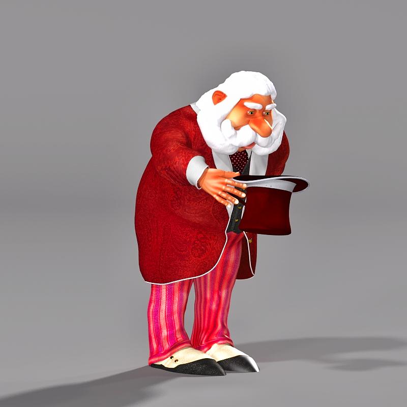 Gentleman Santa 3D Character