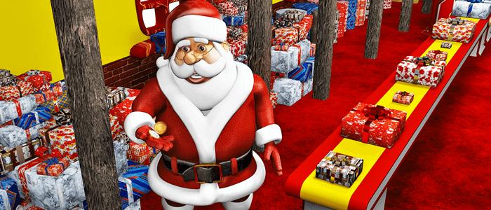 Santa Prepares Wall Paper