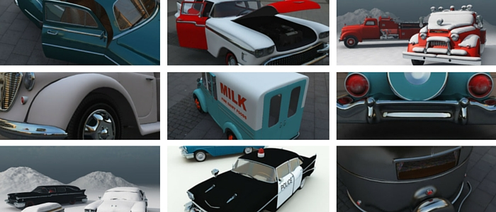 Fedoraville 3D Vehicles