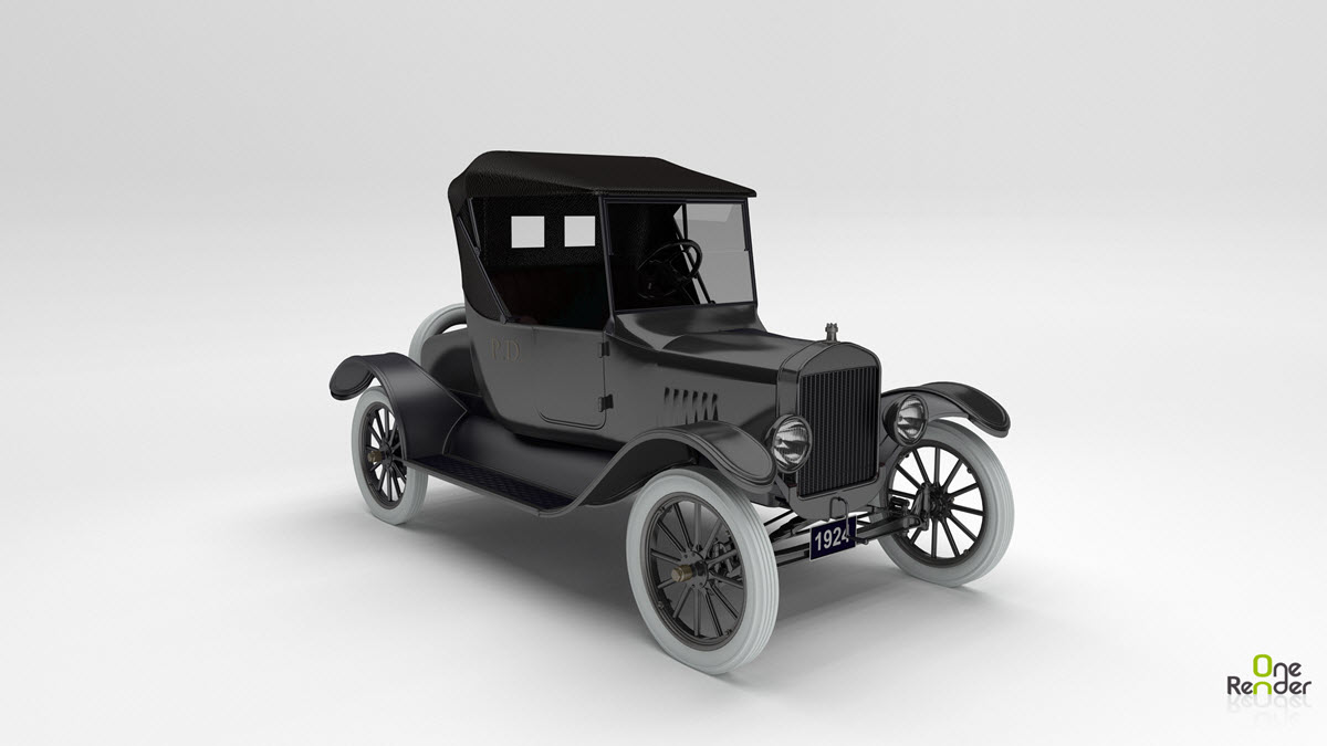 1924 Model T Runabout Rendered on OneRender