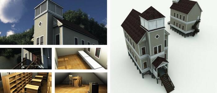Skamokawa Redmen Hall 3D