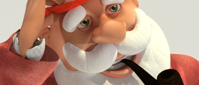 Fedoraville Santa 3D Christmas Character