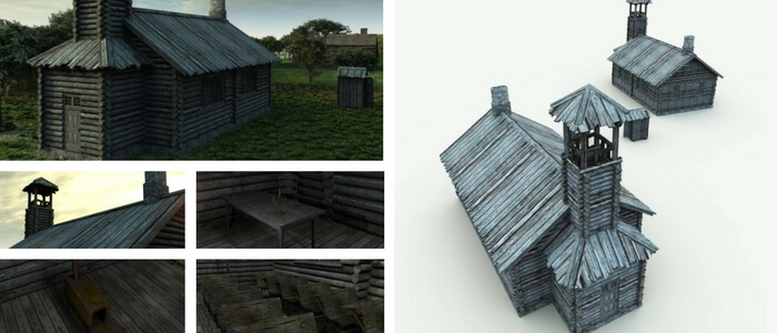 Ichabod Crane 3D School House