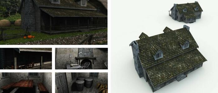 Sleepy Hollow Inn 3D Building Model