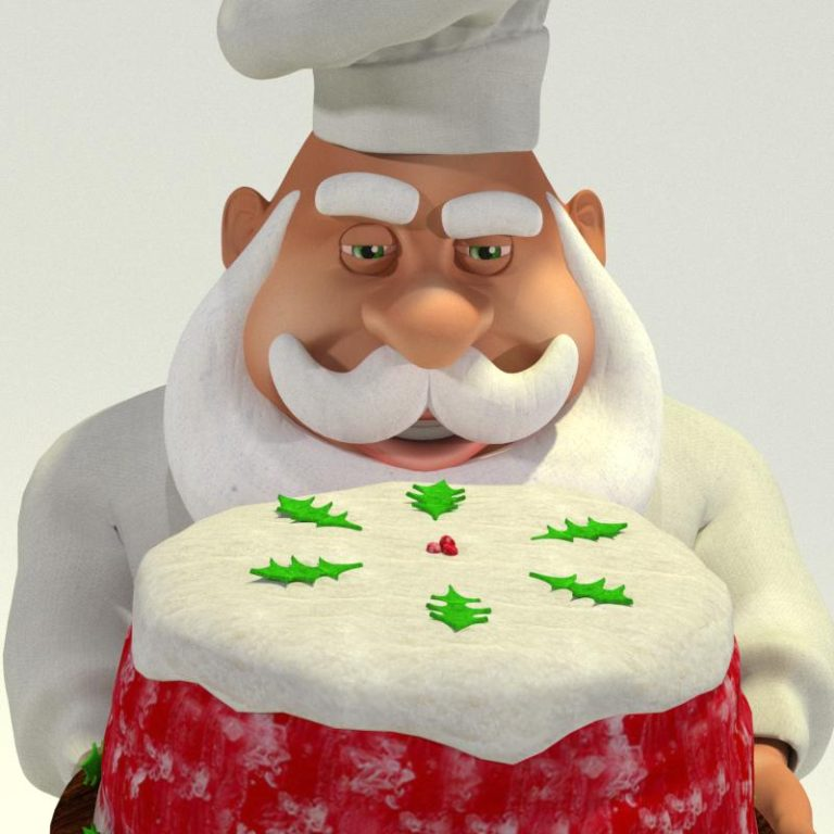 Chef Santa Face View