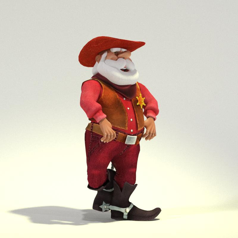 Wild West Toon Santa for Poser