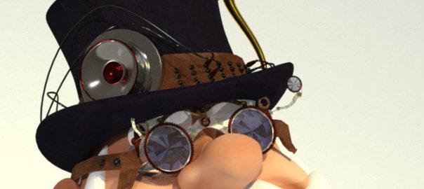 Steampunk Santa 3D for Poser & DAZ Studio