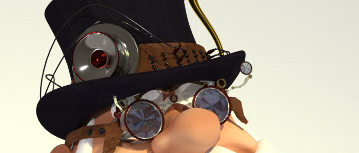 Steampunk Santa 3D for Poser & DAZ Studio