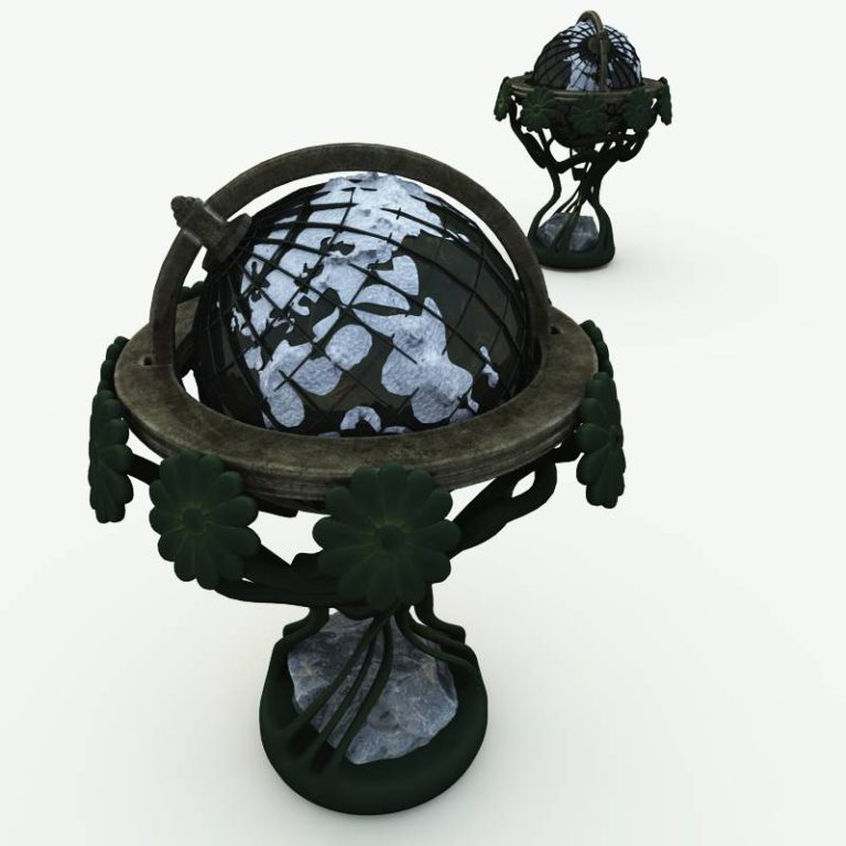 Elfin Location Globe 3D Model
