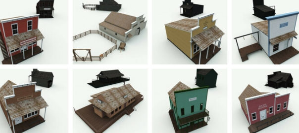 Old West 3D Buildings Volume 1 Complete Edition